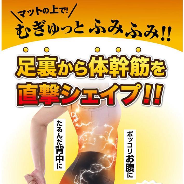 体幹筋あしふみマット 足踏み 運動 ダイエット 体幹トレーニング 器具 踏み台昇降 ながらエクササイズ 家事しながら 簡単エクサ 足裏 刺激 体幹筋シェイプ le-cure 04
