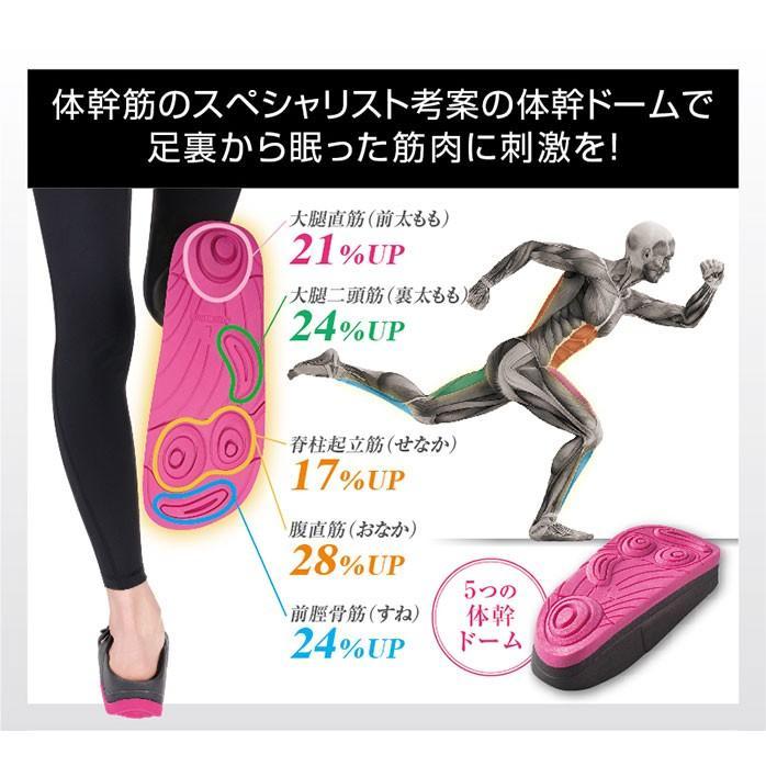 ダイエットスリッパ 体幹筋シェイプスリムサンダル 体幹トレーニング スリッパ ダイエットサンダル レディース シェイプアップサンダル|le-cure|07