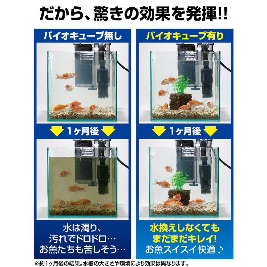 掃除 水槽 ろか材 お魚天国バイオキューブ 水槽の水換え 金魚鉢 セラミック ろ過材 フィルター 濾過材|le-cure|04