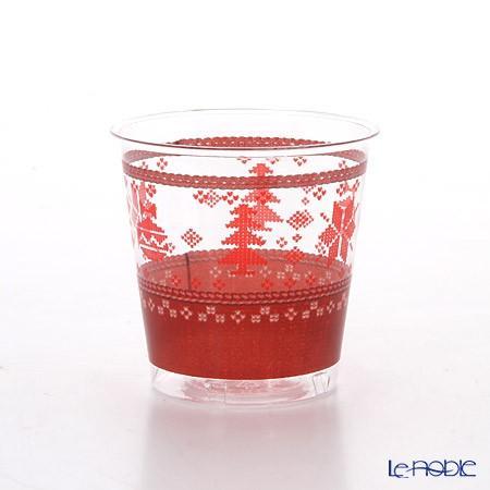 エクスクルーシブ トレード プラスチックカップ 300cc クロスステッチクリスマス EX71QR 10p|le-noble|02