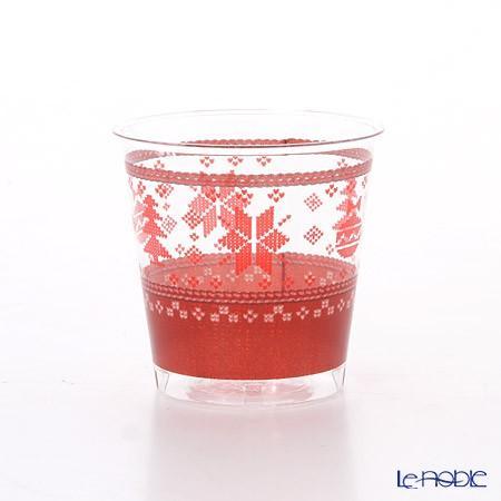 エクスクルーシブ トレード プラスチックカップ 300cc クロスステッチクリスマス EX71QR 10p|le-noble|03