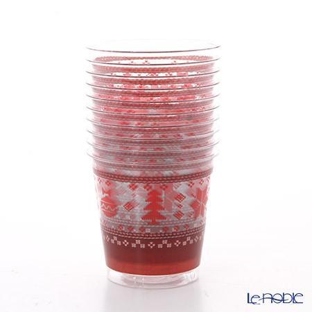 エクスクルーシブ トレード プラスチックカップ 300cc クロスステッチクリスマス EX71QR 10p|le-noble|05