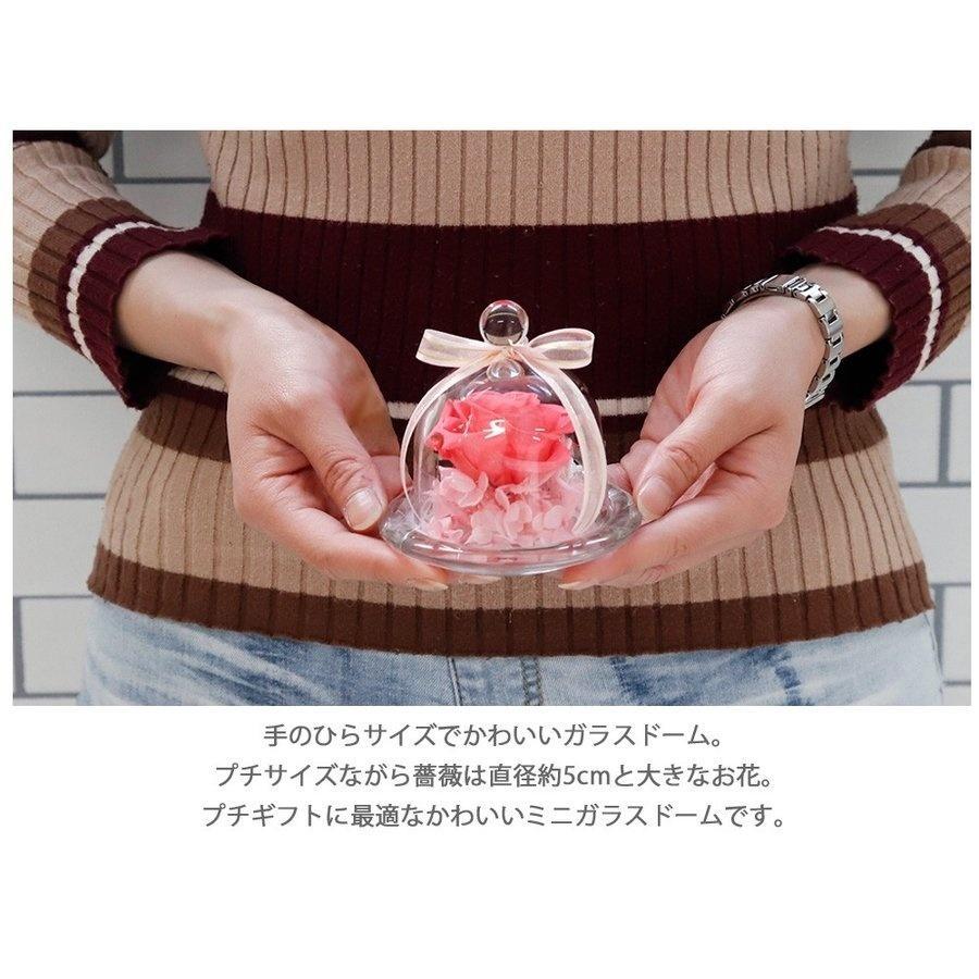 2021 花 プリザーブドフラワー ガラスドーム ガラスケース バラ 枯れない 女性 彼女刻印 名入れ 誕生日 お祝い ギフト プレゼント 敬老の日 孫 おばあちゃん|le-premier|03