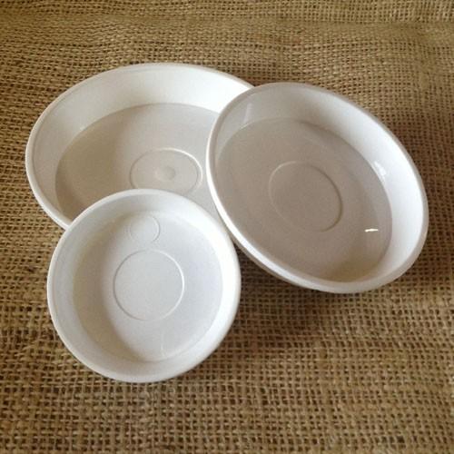 小型 受皿 鉢皿サルーン ホワイト 2号 大和プラ 5個までネコポス|leafs
