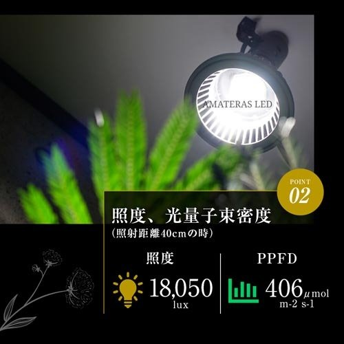 植物育成灯 アクアリウム テラリウム パルダリウム 太陽光LED 水草育成 観葉植物 BARREL AMATERAS(アマテラス) LED 20W BARREL leafs 11