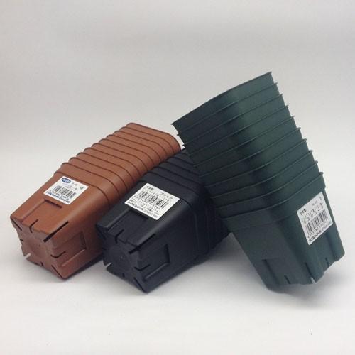 在庫一掃売り切りセール 硬質ポリ 仕立鉢 育苗 スリット アップル 定番スタイル 90型 10個組 プレステラ