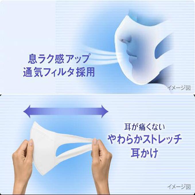 日本製マスク ユニチャーム 超立体マスク 大きめサイズ ふつうサイズ 小さめサイズ 7枚入 全国マスク工業会会員企業 かぜ 花粉 PM2.5 Unicharm mask leathercity 06