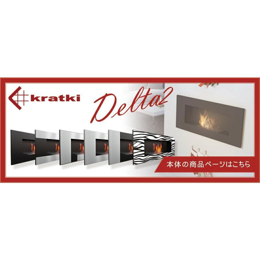 バイオエタノール暖炉 KRATKI(ポーランド) クラトキ DELTA2 デルタ2 専用 ガラスシールド ガラススクリーン 壁掛け型暖炉 leben 04