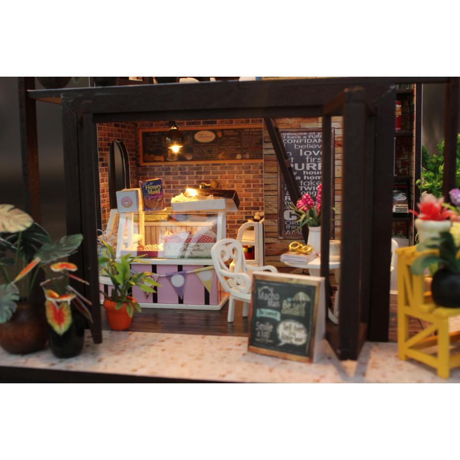 ミニチュアドールハウス コーヒーハウス DIY ホンガクラフト|lebenwood|06