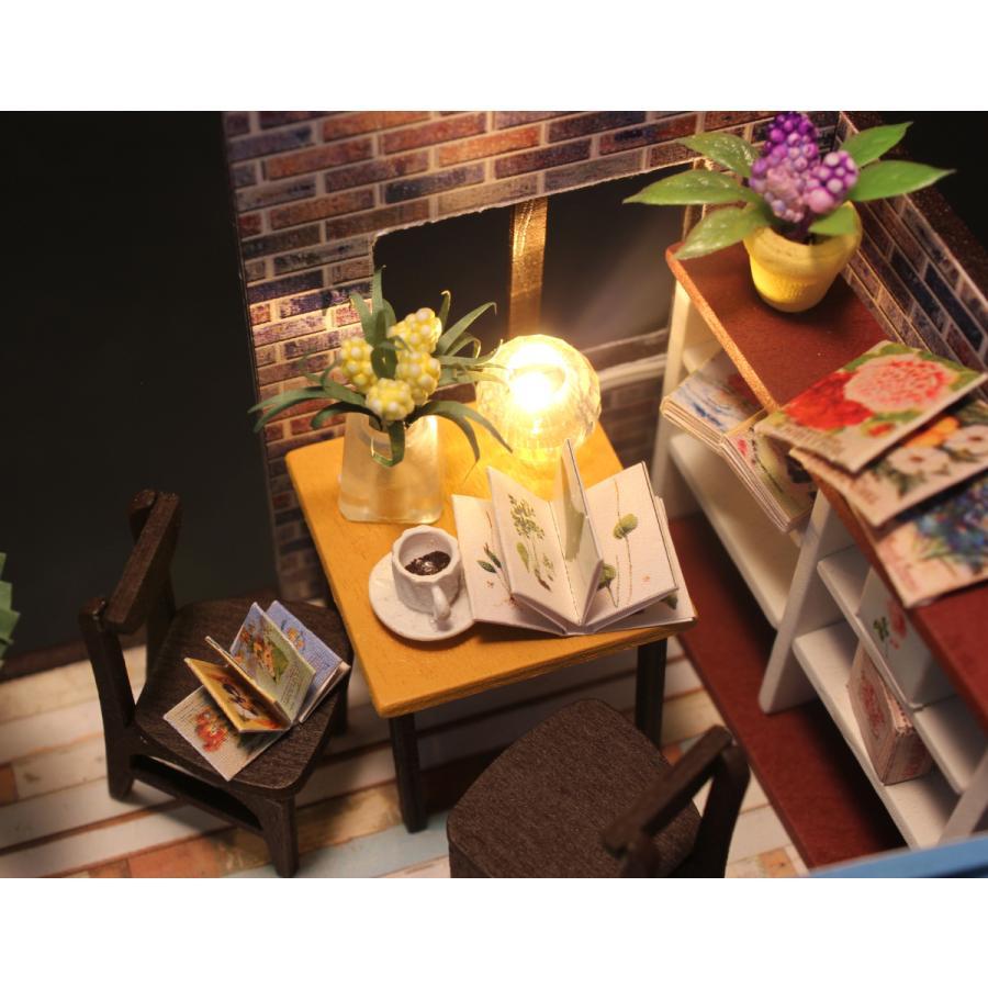 ミニチュアドールハウス コーヒーハウス DIY ホンガクラフト|lebenwood|08