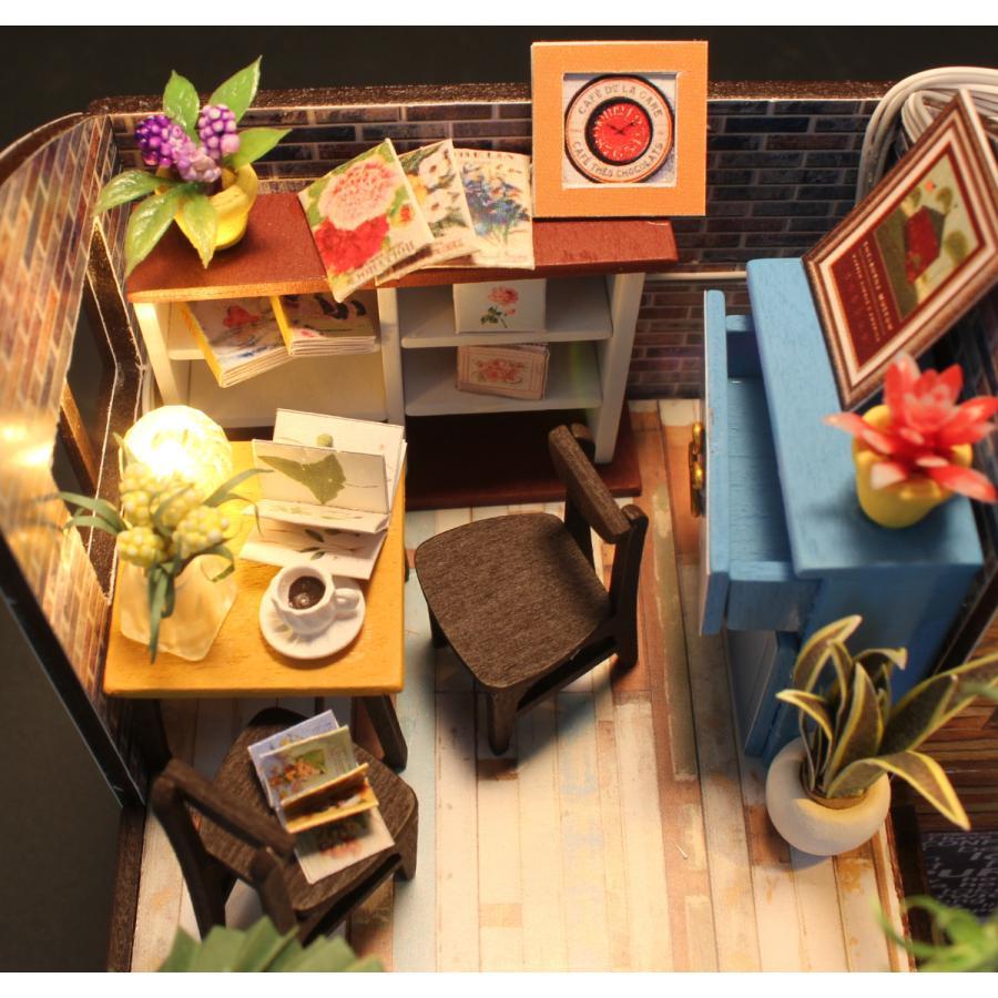 ミニチュアドールハウス コーヒーハウス DIY ホンガクラフト|lebenwood|09