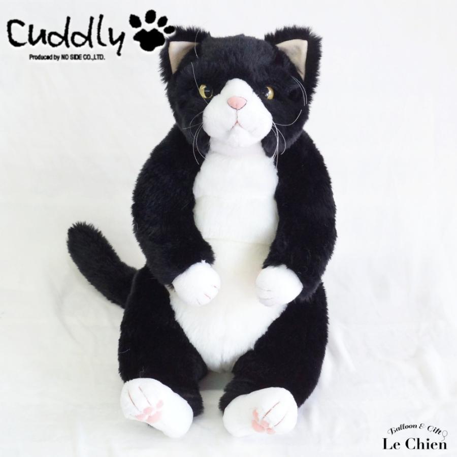 ぬいぐるみ 猫 ハチワレ《甚五郎 JingoroI》白黒 cuddly カドリー ねこのぬいぐるみ 日本製 リアル ぬいぐるみ ルシアン 猫グッ