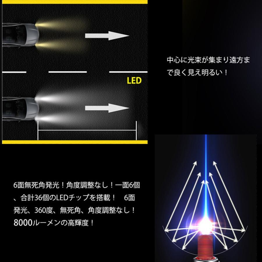 360度全面発光 LED HB3 ヘッドライト 車用 三菱 MITSUBISHI デリカ D:5 DELICA H19.1〜H31.1 CV5W 2灯 red Linksauto|lecky|05