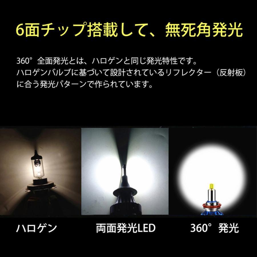 360度全面発光 LED HB3 ヘッドライト 車用 三菱 MITSUBISHI デリカ D:5 DELICA H19.1〜H31.1 CV5W 2灯 red Linksauto|lecky|09