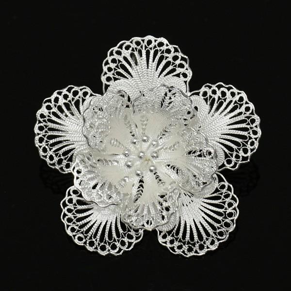 フィリグリー フラワー ブローチ ペンダント 美しい手仕事の繊細な銀線細工 ジョグジャカルタ KA79 lecollier 12