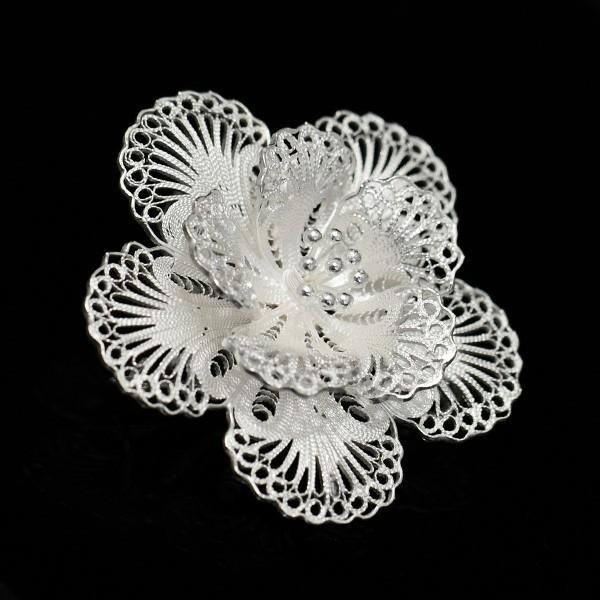 フィリグリー フラワー ブローチ ペンダント 美しい手仕事の繊細な銀線細工 ジョグジャカルタ KA79 lecollier 13