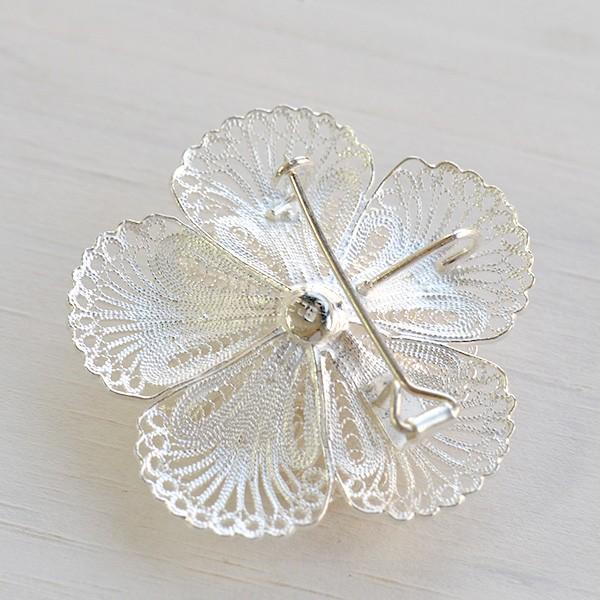 フィリグリー フラワー ブローチ ペンダント 美しい手仕事の繊細な銀線細工 ジョグジャカルタ KA79 lecollier 14