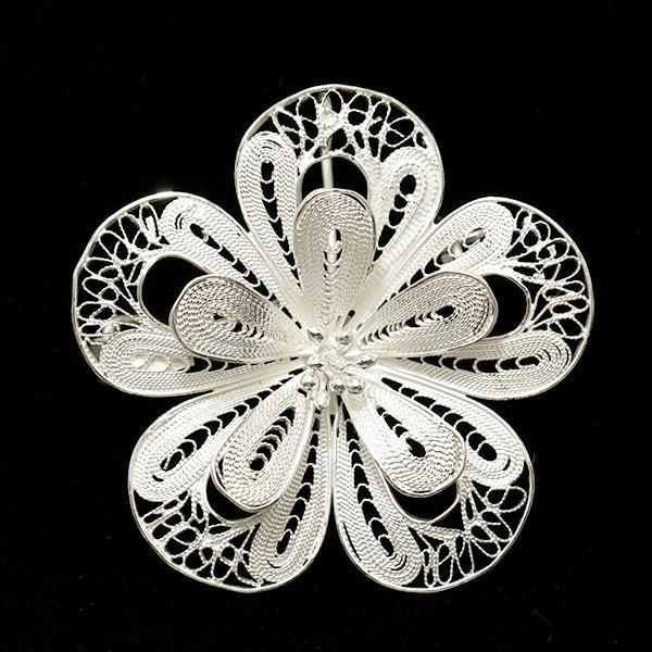 フィリグリー フラワー ブローチ ペンダント 美しい手仕事の繊細な銀線細工 ジョグジャカルタ KA79 lecollier 17