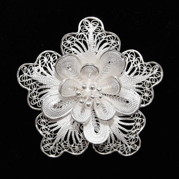 フィリグリー フラワー ブローチ ペンダント 美しい手仕事の繊細な銀線細工 ジョグジャカルタ KA79 lecollier 10