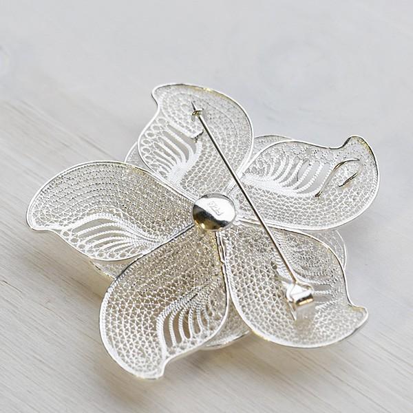 フィリグリー 花 ブローチペンダント 美しい手仕事の繊細な銀線細工 ジョグジャカルタ メール便不可 lecollier 05