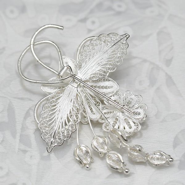 フィリグリー ブーケ ブローチ michiko model 美しい手仕事の繊細な銀線細工 ジョグジャカルタ メール便不可 lecollier 05