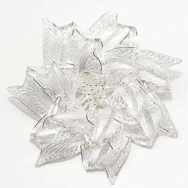 フィリグリー リボン フラワー ブローチ 美しい手仕事の繊細な銀線細工 ジョグジャカルタ メール便不可|lecollier|04