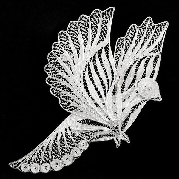 フィリグリー バード ブローチペンダント 美しい手仕事の繊細な銀線細工 ジョグジャカルタ KA79 A.D01.3468|lecollier|04
