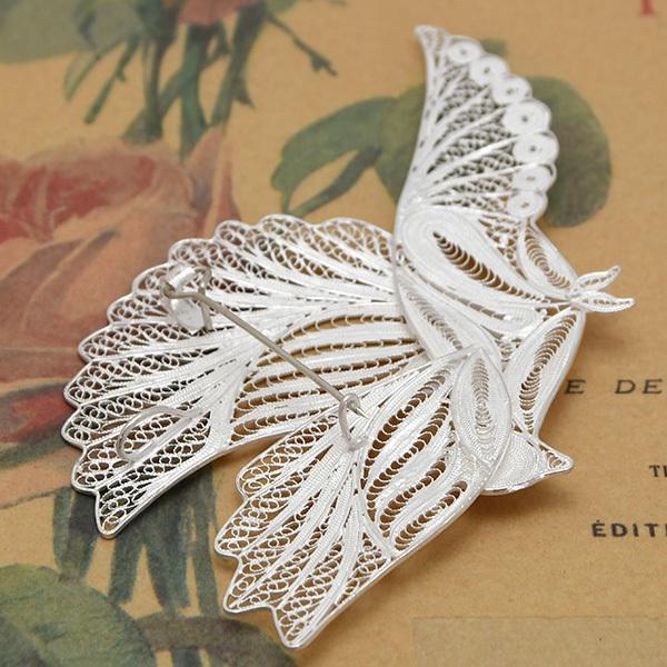 フィリグリー バード ブローチペンダント 美しい手仕事の繊細な銀線細工 ジョグジャカルタ KA79 A.D01.3468|lecollier|06