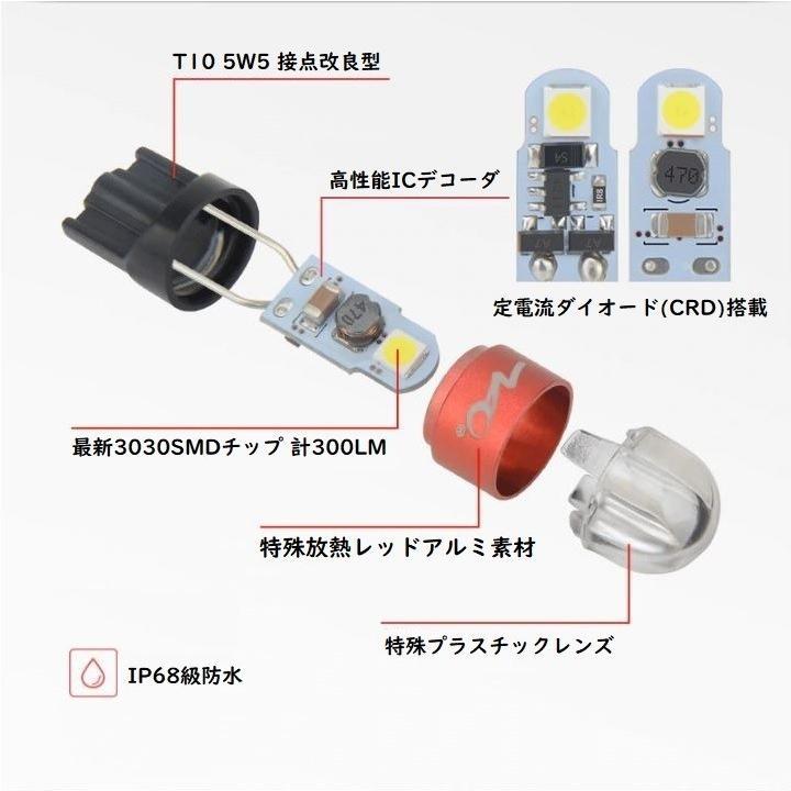 スバル XV LED ナンバー灯 ライセンスランプ GT3.7系 (H29.5-) 3030SMD 300LM 6000k ホワイト 車検対応|led-luce|07