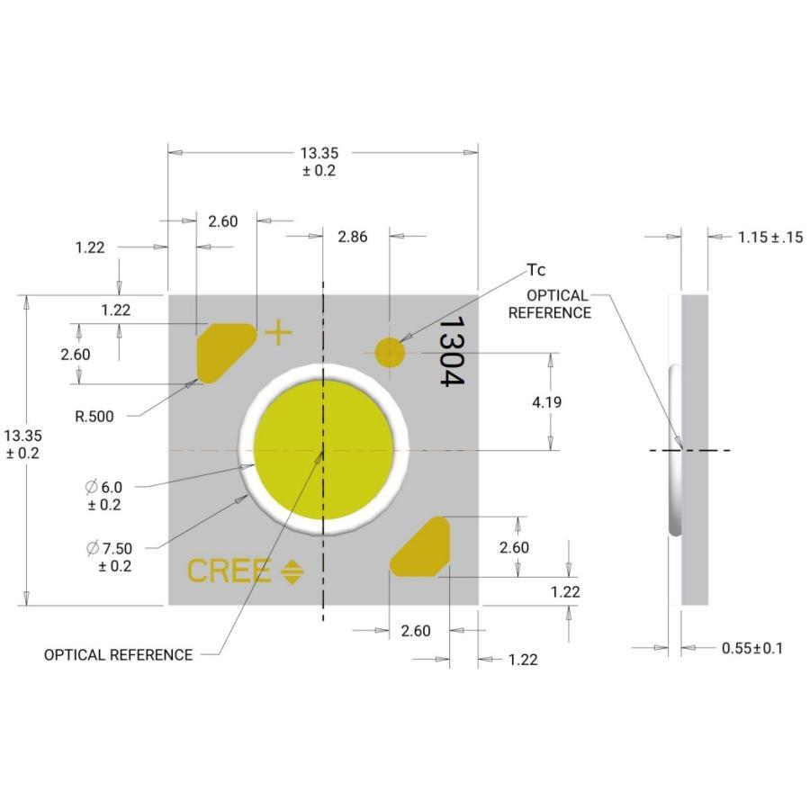 CREE社製 超高演色 XLamp CXA1304 最大10W ハイパワーLED 白色 COB構造で高効率!! 白 ホワイト white LED 発光ダイオード|ledg|04