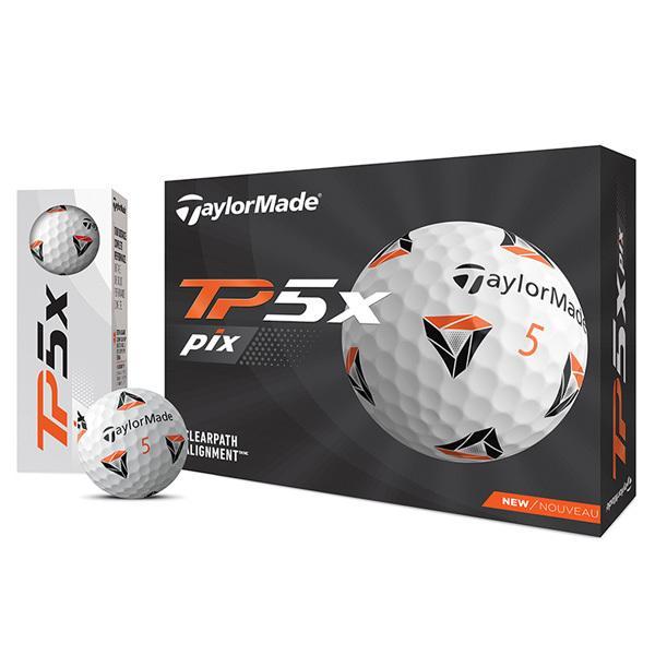 倍倍ストア対象でポイントアップ中 テーラーメイド 2021 TP5X セール特価品 PIXデザイン ボール 1ダース 数量限定
