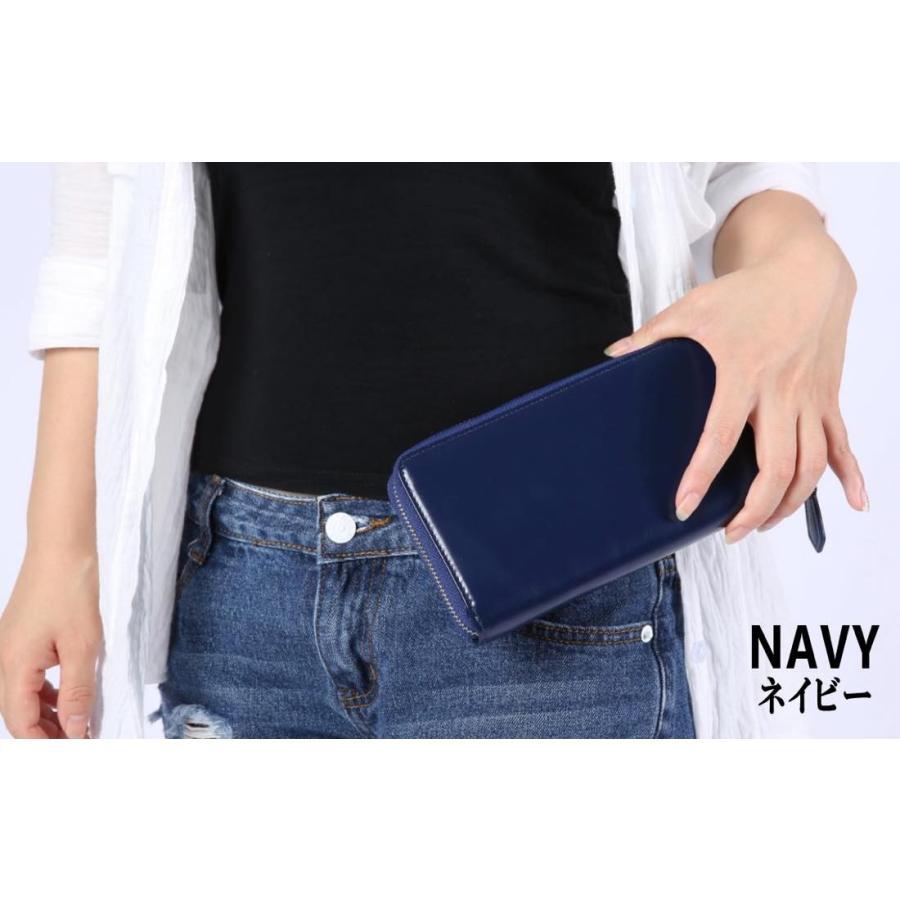 長財布 メンズ レディース 本革 コインスルー ギャルソン 財布 カード28枚収納 ガバッと開いて使いやすい BOX型小銭入れ レガーレ|legare-factory|11