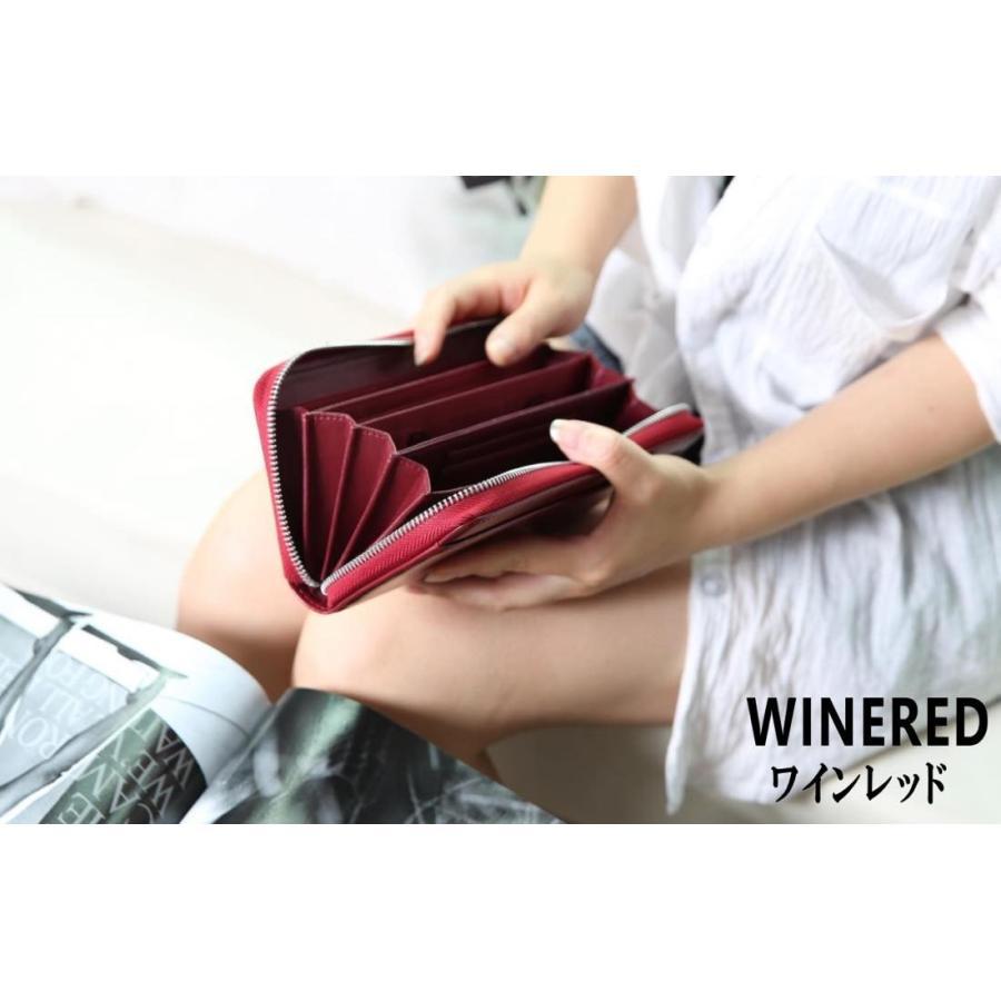 長財布 メンズ レディース 本革 コインスルー ギャルソン 財布 カード28枚収納 ガバッと開いて使いやすい BOX型小銭入れ レガーレ|legare-factory|14