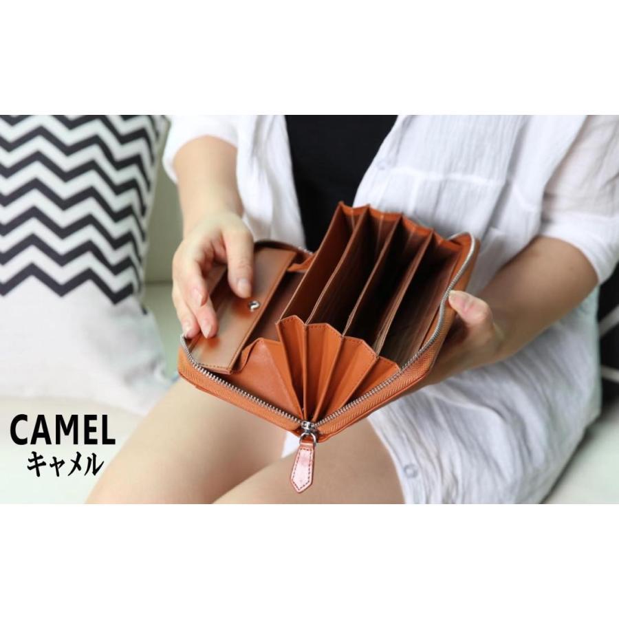 長財布 メンズ レディース 本革 コインスルー ギャルソン 財布 カード28枚収納 ガバッと開いて使いやすい BOX型小銭入れ レガーレ|legare-factory|10