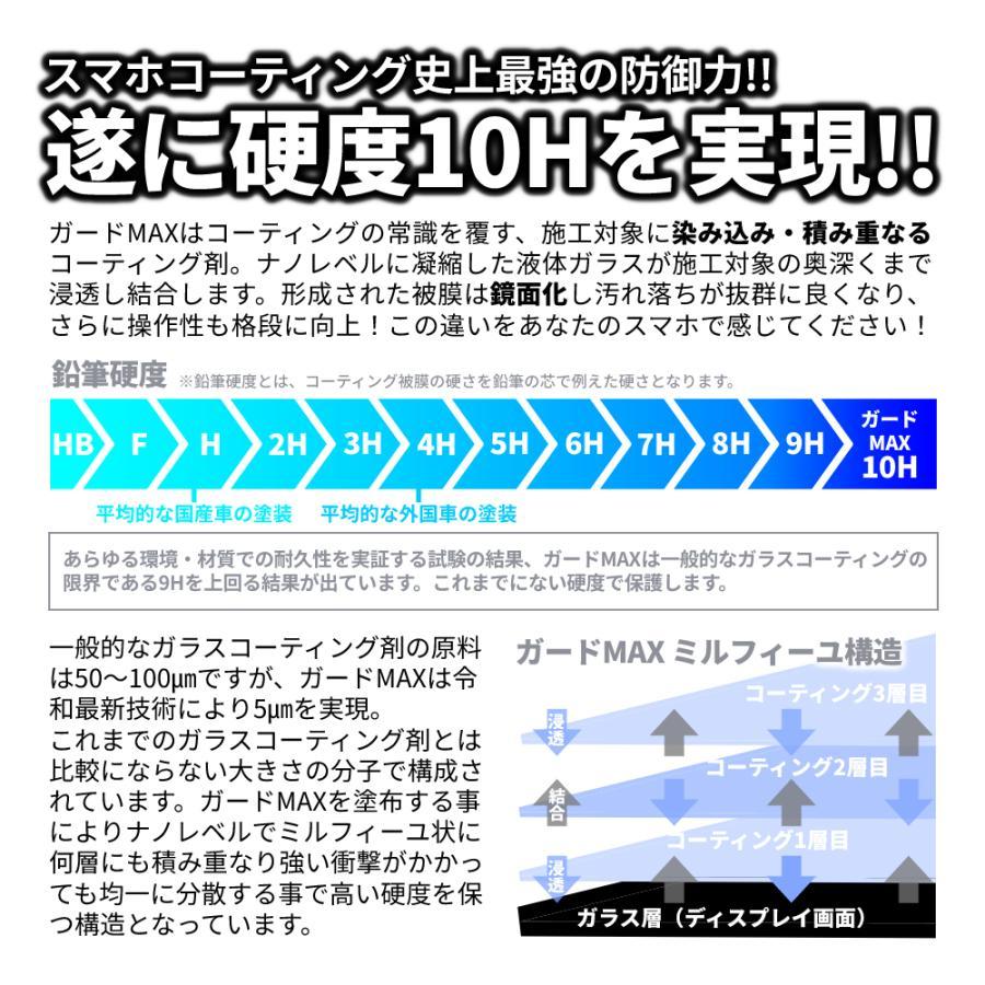 【10/29〜31までクーポンで30%OFF】 スマホ ガラスコーティング剤 コーティング 液体 硬度10H 画面 保護 指紋 液晶 ガードMAX プロ仕様 世界最先端 特許取得済 legare-factory 04