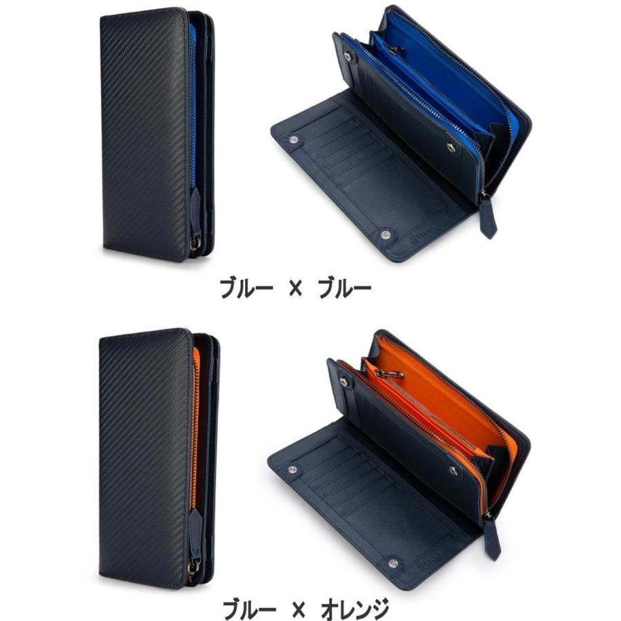 長財布 メンズ 財布 二つ折り ブランド カーボン レザー 大容量 スマホ も入る 多機能 レガーレ|legare-factory|15
