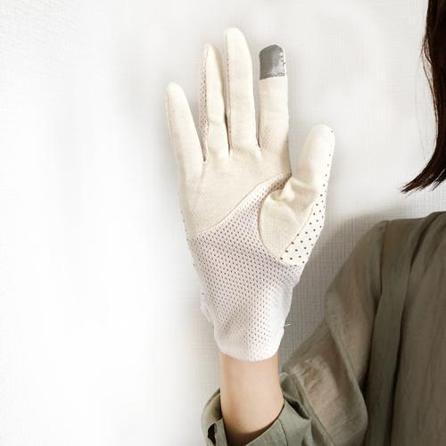 ドット UV手袋 春夏秋 スマホ対応 レディース タッチパネル対応 冷感 おしゃれ UVカット 薄手 在庫あり 大人  ショート|legicajeana|11