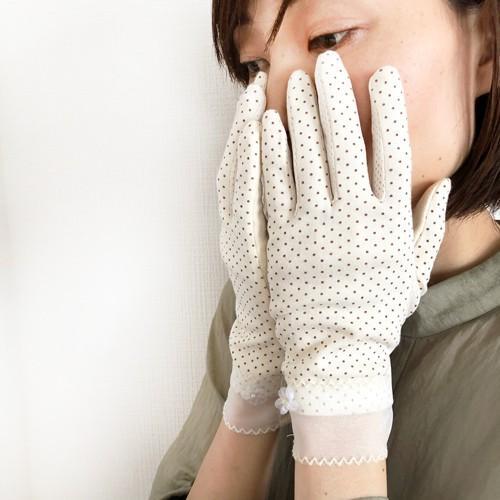 ドット UV手袋 春夏秋 スマホ対応 レディース タッチパネル対応 冷感 おしゃれ UVカット 薄手 在庫あり 大人  ショート|legicajeana|12