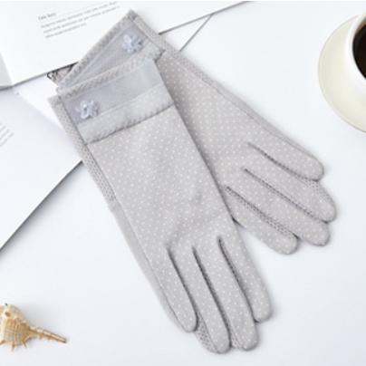ドット UV手袋 春夏秋 スマホ対応 レディース タッチパネル対応 冷感 おしゃれ UVカット 薄手 在庫あり 大人  ショート|legicajeana|09