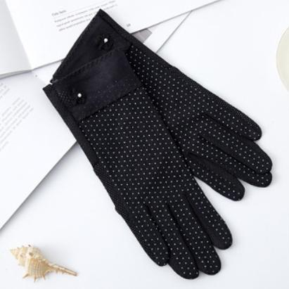 ドット UV手袋 春夏秋 スマホ対応 レディース タッチパネル対応 冷感 おしゃれ UVカット 薄手 在庫あり 大人  ショート|legicajeana|10