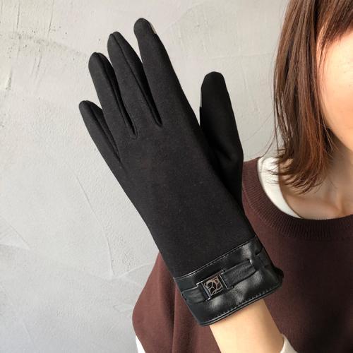手袋 冬 スマホ レディース おしゃれ あったか 裏起毛 黒 グレー クリーム ブラック ウィルス対策 legicajeana 11
