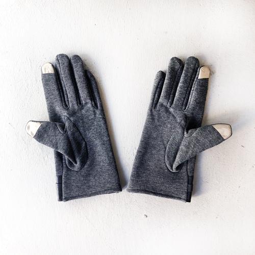 手袋 冬 スマホ レディース おしゃれ あったか 裏起毛 黒 グレー クリーム ブラック ウィルス対策 legicajeana 10