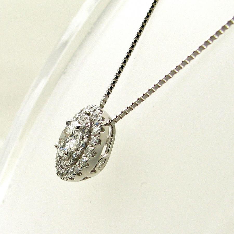 プラチナ ダイヤモンド デザインネックレス 0.30カラットUP 鑑定書付き Eカラー SI2 GOODカット メレダイヤモンド 0.280カラット|lehaim|02