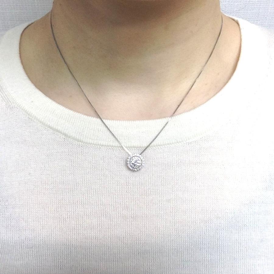 プラチナ ダイヤモンド デザインネックレス 0.30カラットUP 鑑定書付き Eカラー SI2 GOODカット メレダイヤモンド 0.280カラット|lehaim|05