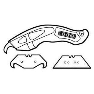 ライスター・カッター(フック刃2枚、ストレート刃3枚、専用ケース付) leister 02