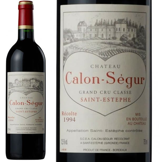 1994 シャトー カロン セギュール 赤ワイン 辛口 フルボディ 750ml Ch Calon Segur カロンセギュール ハート