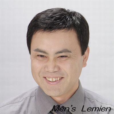 男性用 部分 かつら 左ルーズパート (人毛100%) みだれ防止 パーマ仕上げ DX70 lemienshop