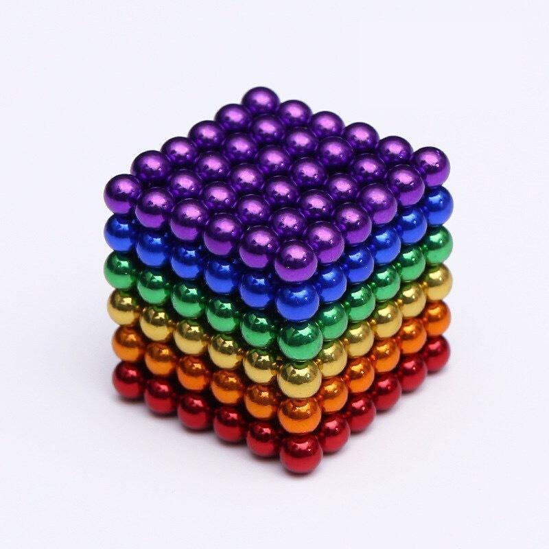 マグネットボール ネオジム磁石 3mm 本日限定 買い取り 6色カラー 216個 工作 教育工具 マジック磁石 立体パズル DIY工具