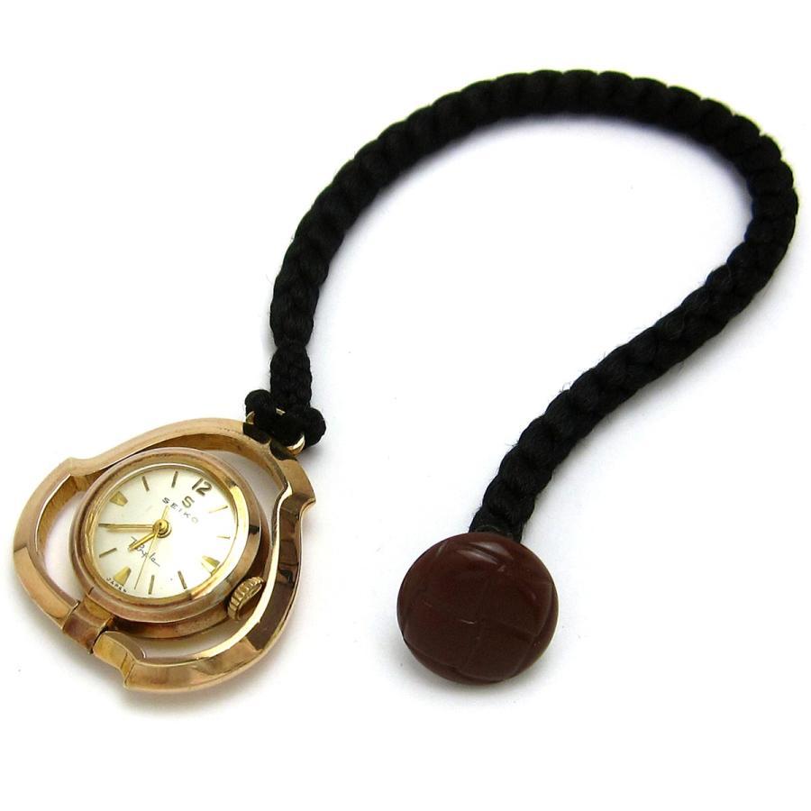 セイコー 時計 パープル ポケットウオッチ 懐中時計 ピンクゴールド Sマーク アンティーク レア