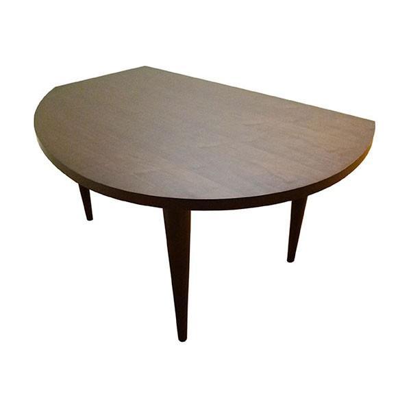 変形 ダイニングテーブル KAN II W155 木天板 ウォルナット色 木脚 日本製 オリジナル 送料無料 |lepice|03